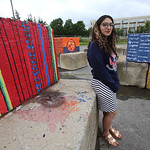 Lowell Cultural Affairs and Special Events office had local artists paint some of the security blocks and jersey barriers needed for the Lowell Folk Festival. Artist Alexandra Derderian of L ...