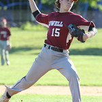 Lowell vs Tyngsboro Northeast League baseball. Lowell pitcher Tyler Hoey (15). (SUN/Julia Malakie)