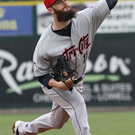 Lowell Spinners vs Tri-City ValleyCats baseball. Astros' Dallas Keuchel pitching in rehab start for ValleyCats. (SUN/Julia Malakie)