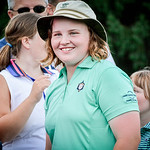 Molly Smith, 12, is all smiles after winning the Women's Cities Golf Tournament at Nabnasset Lake Country Club. She had to compete in a 3 way tie against Sophie Flabouris and Jessica Hughes. ...